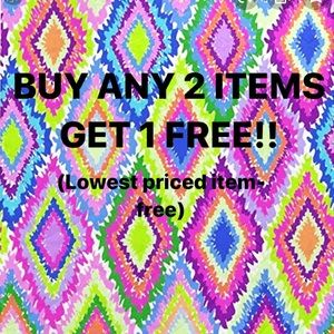 SALE SALE SALE!! BUY ANY 2 ITEMS GET 1 FREE!!